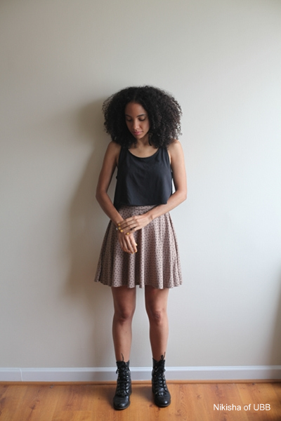 Style Vintage Amp Thrifted Cropped Tank Dress W Combat Boots