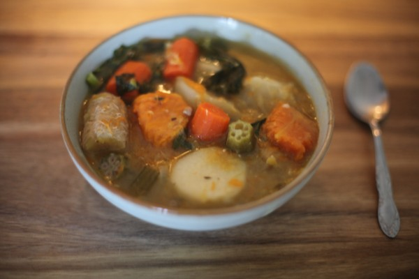 Last nights dinner delicious jamaican ital soup for Jamaican fish soup recipe