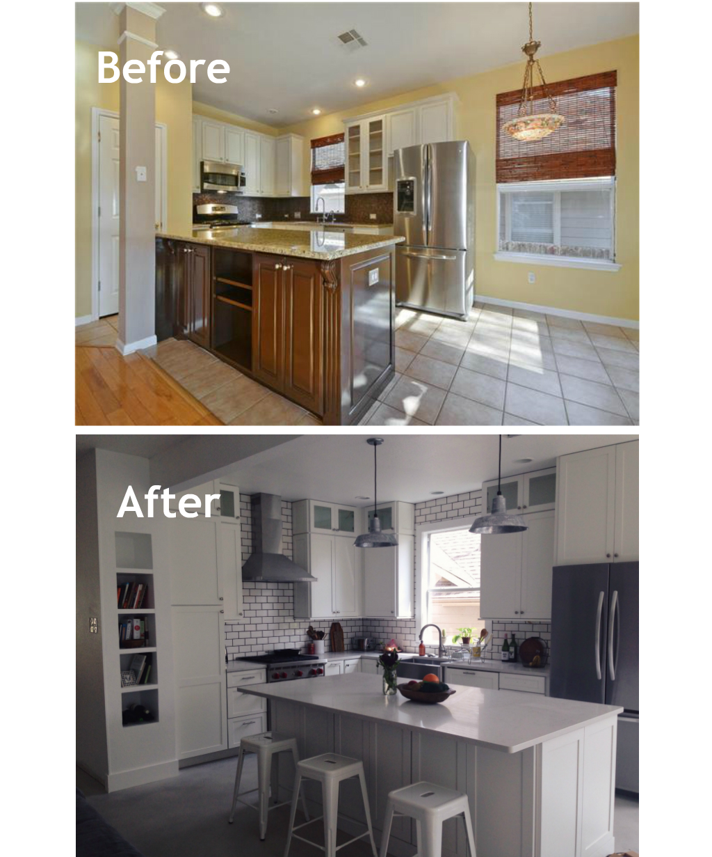 New Kitchen Before And After: My New Home Renovations: Kitchen Before & After Pictures