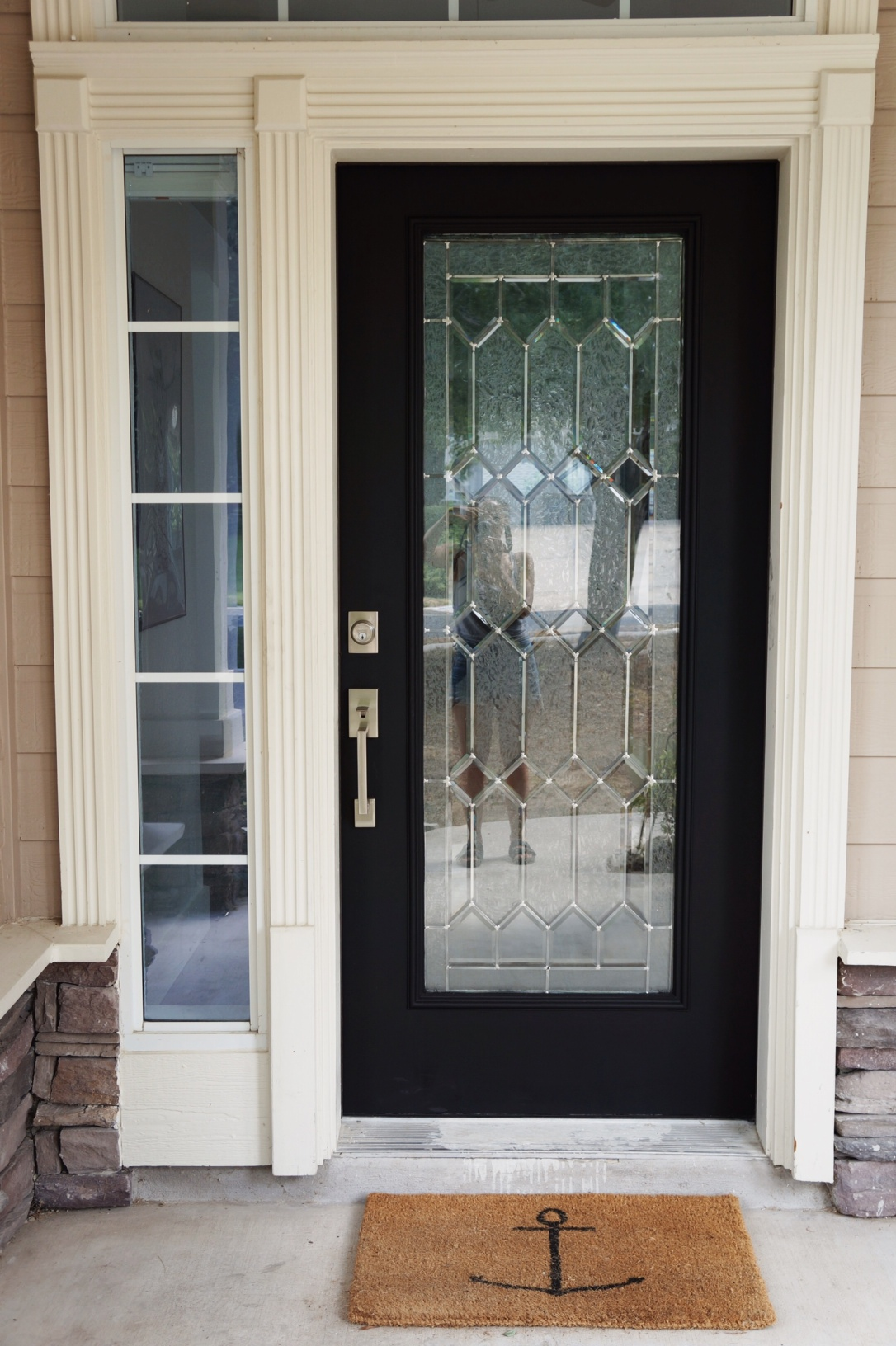 Super Diy How I Painted 3 Of My House Doors Matte Black Largest Home Design Picture Inspirations Pitcheantrous